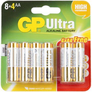 Ultra Alkaline AA Battery x 8 (+4 Free)