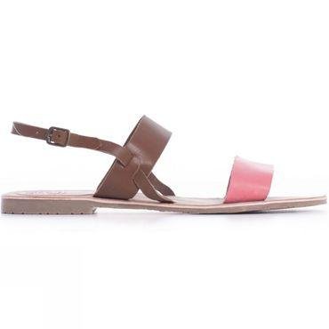 Womens Contrast Strap Sandal
