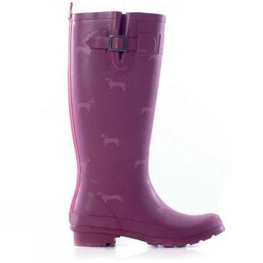 Womens Sausage Dog Welly