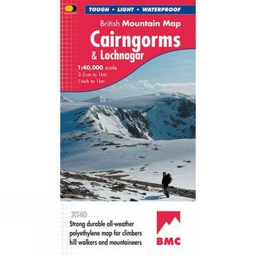 Cairngorms & Lochnagar British Mountain Map 1:40K
