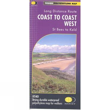 Coast To Coast West St Bees to Keld Map 1:40K