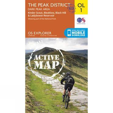 Active Explorer Map OL1 The Peak District - Dark Peak Area