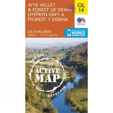 Active Explorer Map OL14 Wye Valley and Forest of Dean