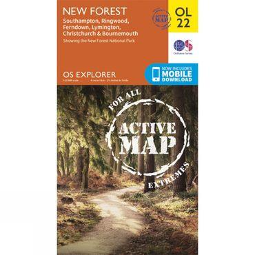 Active Explorer Map OL22 New Forest