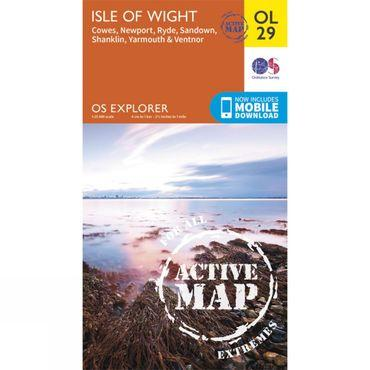 Active Explorer Map OL29 Isle of Wight