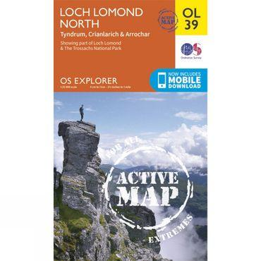 Active Explorer Map OL39 Loch Lomond North