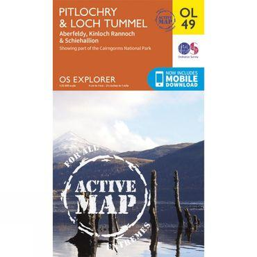 Active Explorer Map OL49 Pitlochry and Loch Tummel