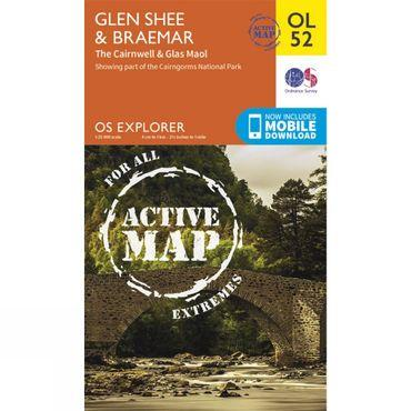 Active Explorer Map OL52 Glen Shee and Braemar