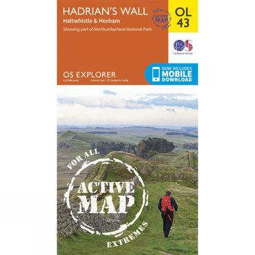 Active Explorer Map OL43 Hadrian's Wall