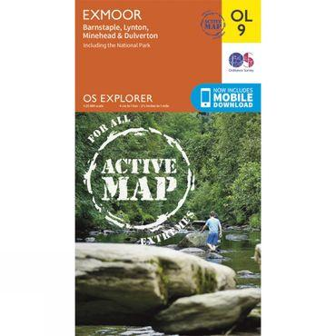 Active Explorer Map OL9 Exmoor