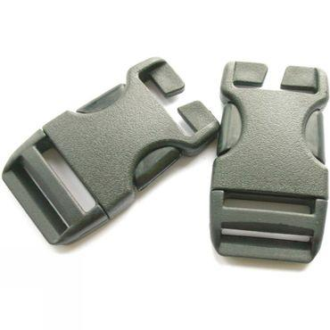 25mm QA Side Squeeze Buckles (x50 in Jar)