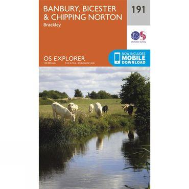 Explorer Map 191 Banbury, Bicester and Chipping Norton