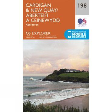 Explorer Map 198 Cardigan and New Quay