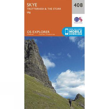 Explorer Map 408 Skye - Trotternish and The Storr