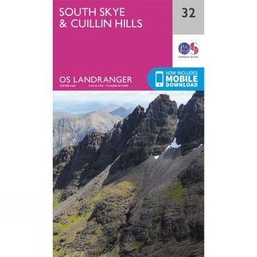 Landranger Map 32 South Skye and Cuillin Hills