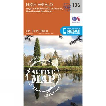 Active Explorer Map 136 High Weald