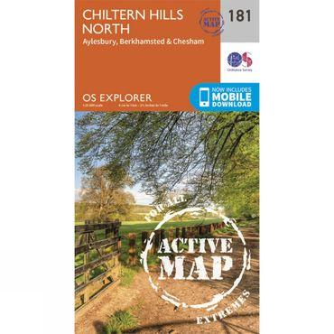 Active Explorer Map 181 Chiltern Hills North