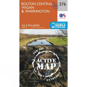 Active Explorer Map 276 Bolton Central, Wigan and Warrington