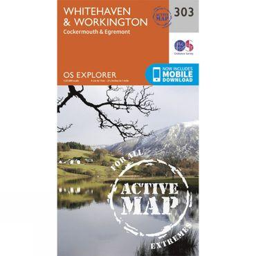 Active Explorer Map 303 Whitehaven and Workington