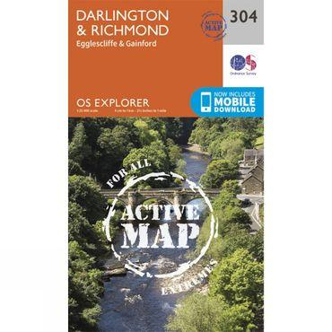 Active Explorer Map 304 Darlington and Richmond