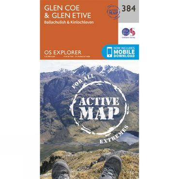 Active Explorer Map 384 Glen Coe and Glen Etive
