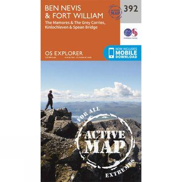 Active Explorer Map 392 Ben Nevis and Fort William
