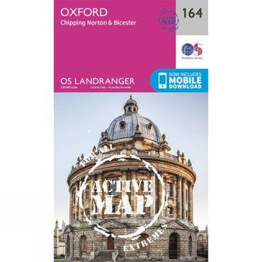 Active Landranger Map 164 Oxford