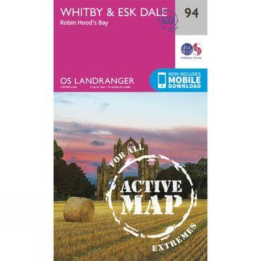 Active Landranger Map 94 Whitby and Esk Dale