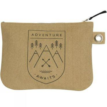 Adventure Awaits Large Zipped Pouch