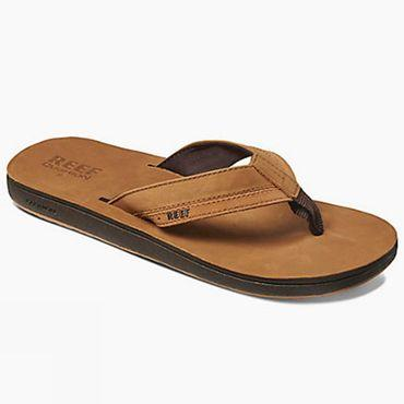 Mens Leather Contour Cushion Flip Flop