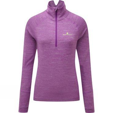 Womens Stride Thermal Long Sleeve Zip Tee
