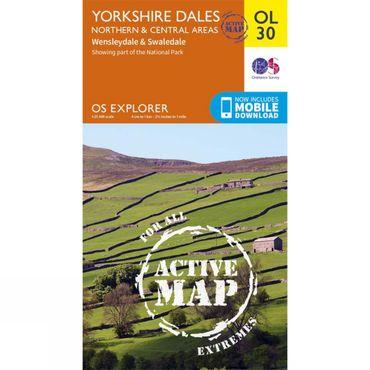 Active Explorer Map OL30 Yorkshire Dales - North and Central Area