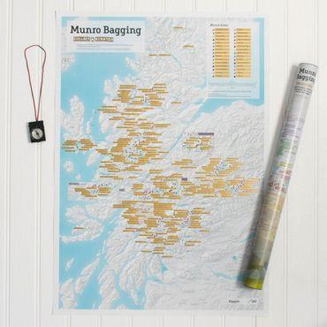 Munro Bagging Collect & Scratch Map