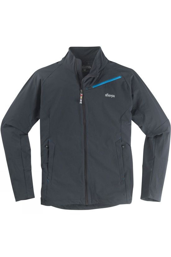 Sherpa Mens Kriti Tech Softshell Jacket Black/Gokyo Lake