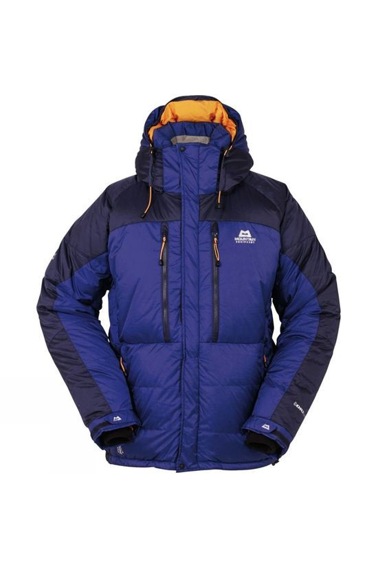 Mountain Equipment Mens Annapurna Jacket Cobalt/Midnight Blue / Russet Orange lining