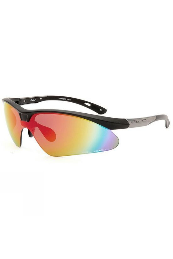 Bloc Shadow Sunglasses Black/Red