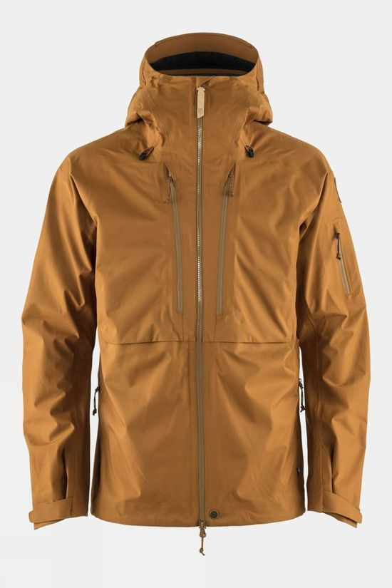 Fjallraven Mens Keb Eco-Shell Jacket Chestnut