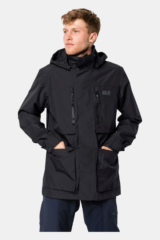 Jack Wolfskin Mens Bridgeport Jacket Black