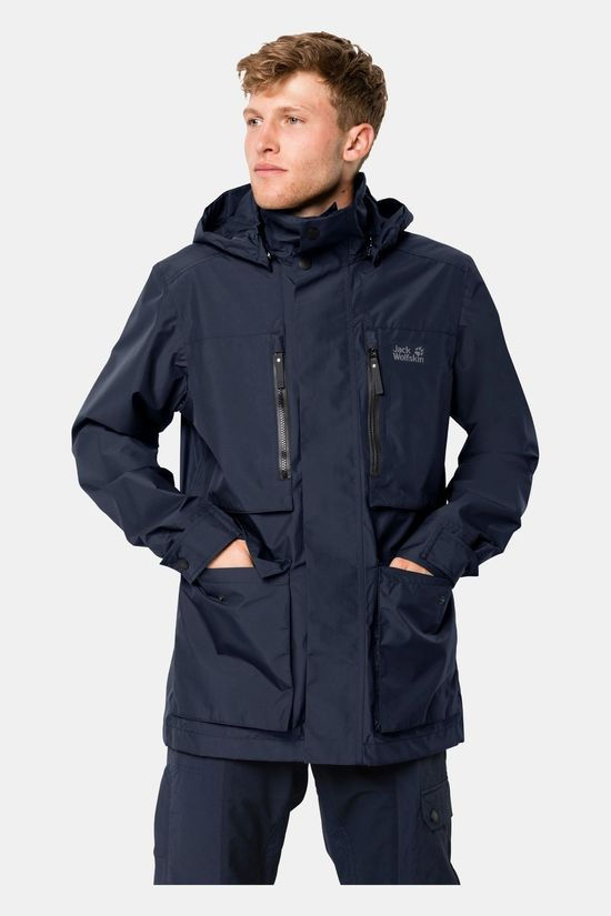 Jack Wolfskin Mens Bridgeport Jacket Night Blue