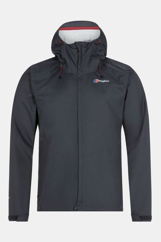 Berghaus Mens Deluge Vented Shell Jacket Carbon
