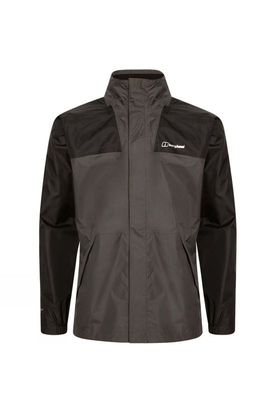 Berghaus Mens Kinglas Shell Jacket Grey Pinstripe/Jet Black