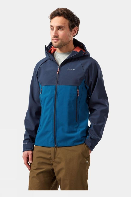 Craghoppers Trent Weatherproof Hooded Jacket                                                                                                                                                                         Blue Navy / Poseidon Blue