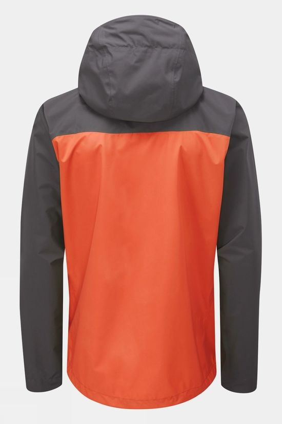 Rab Mens Downpour Eco Jacket Graphene/Firecracker