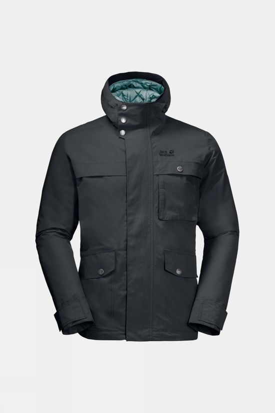 Jack Wolfskin Mens Wildwood Jacket Phantom