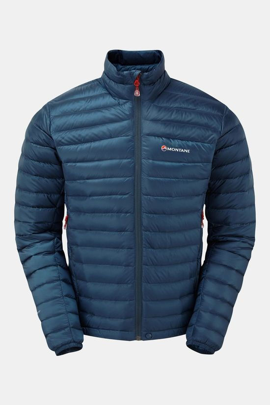 Montane Mens Featherlite Down Micro Jacket Narwhal Blue/Alpine Red