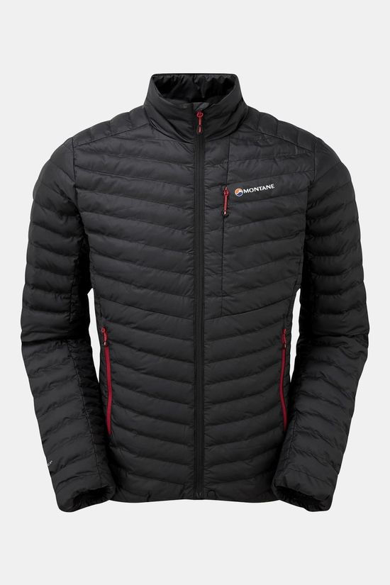 Montane Mens Icarus Micro Jacket Black/Alpine Red