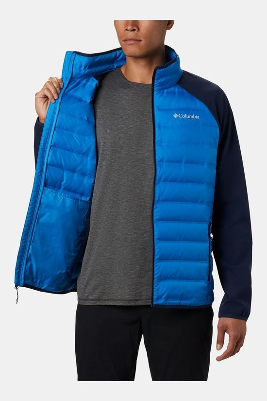 Columbia Mens Lake 22 Hybrid Down Jacket Azure Blue/ Collegiate Navy