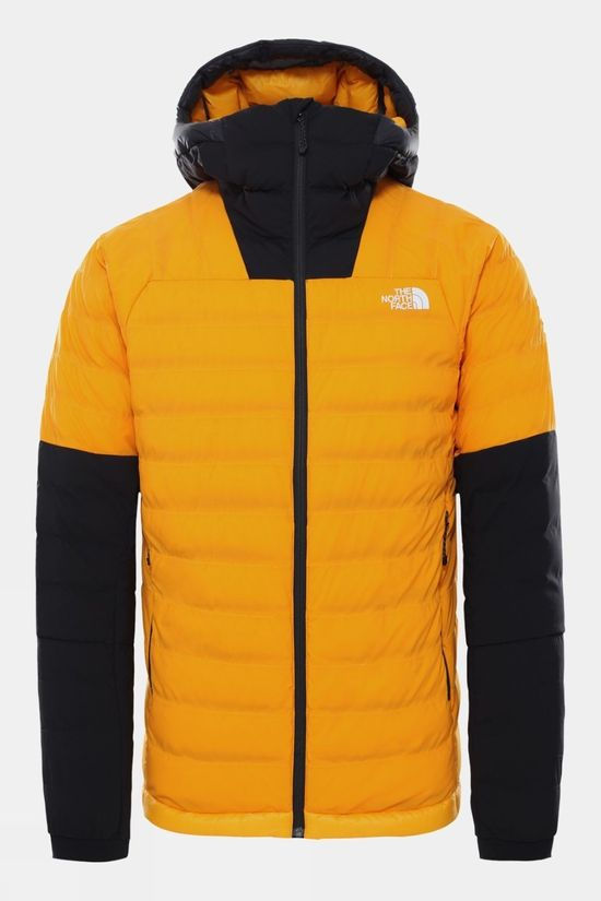 The North Face Mens Summit L3 50/50 Down Hoodie Summit Gold/TNF Black