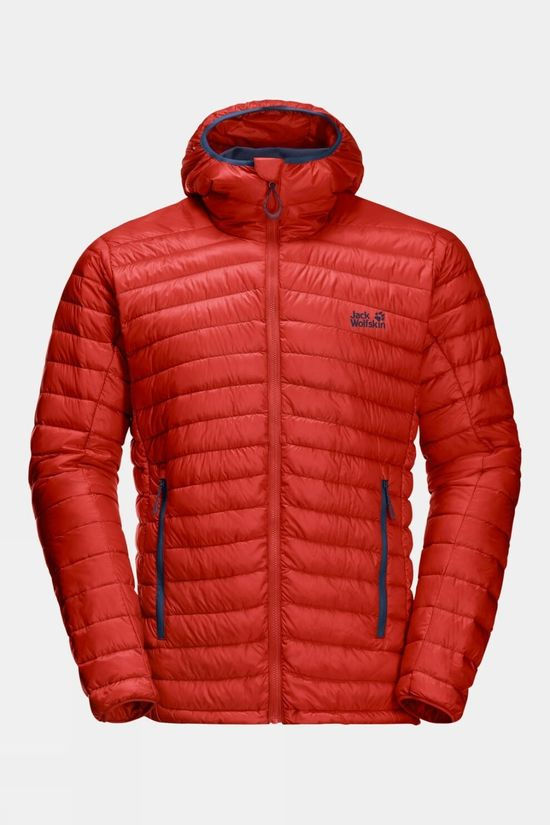 Jack Wolfskin Mens Mountain Down Jacket Lava Red