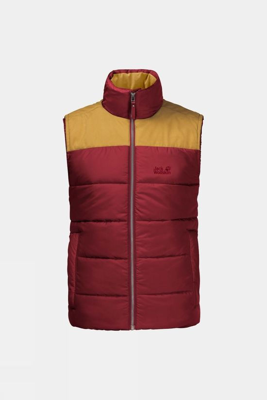 Jack Wolfskin Lakota Insulated Vest Dark Lacquer Red